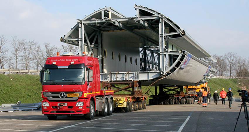 trasporti speciali per merce sporgente e carichi pericolosi verso la lombardia